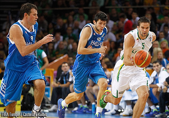 5. Mantas Kalnietis (Lithuania), 9. Antonios Fotsis (Greece), 10. Konstantinos Papanikolaou (Greece)